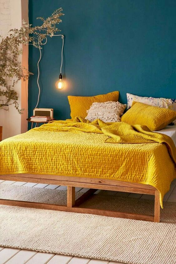 25 Easy Ways To Add Yellow To Your Bedroom - DigsDigs