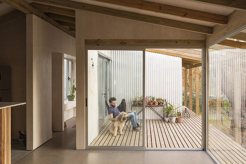 Each space has an access to the deck and patios decorated with comfy furniture and potted plants