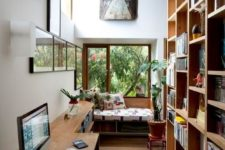 06 even a long and narrow home office can accommodate everything you may need and give you cool views