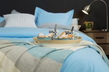 07 There's a couple of bedding sets in brighter shades – blues and greys for those who love bold shades