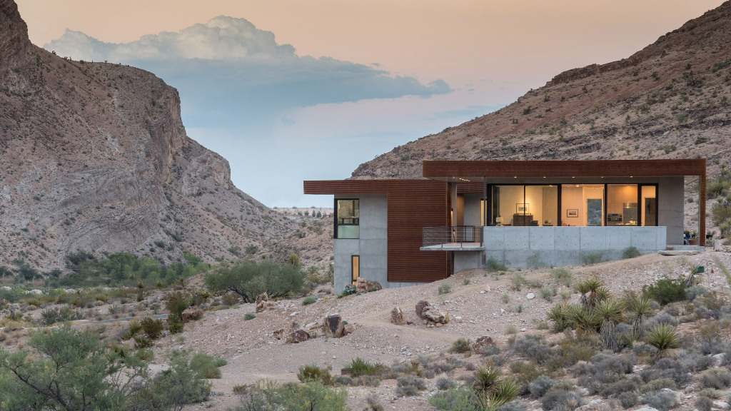 What a great contemporary dwelling in the desert