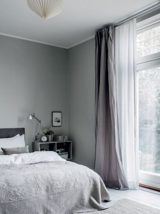 make several layers of curtains to insulate the window more and brign more comfort