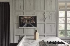 07 whitewashed pecky cypress paneling is a chic idea to add a vintage feel to this kitchen