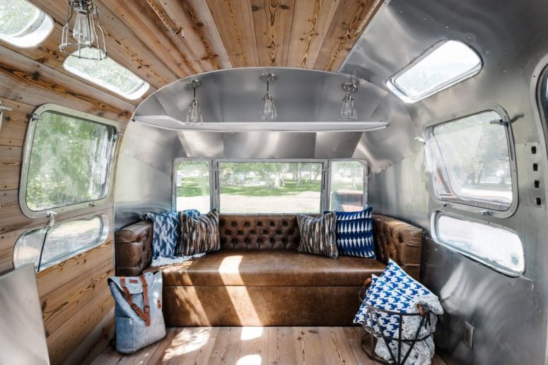 A new guest retreat is a very creative solution, it's an updated 1976 Airstream RV