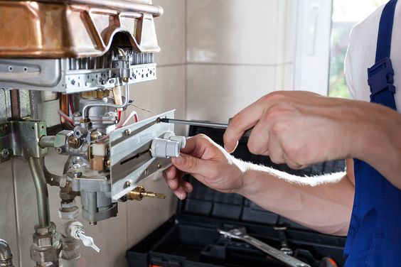 never do gas appliance repairs unless you are a professional yourself, bring some contractors