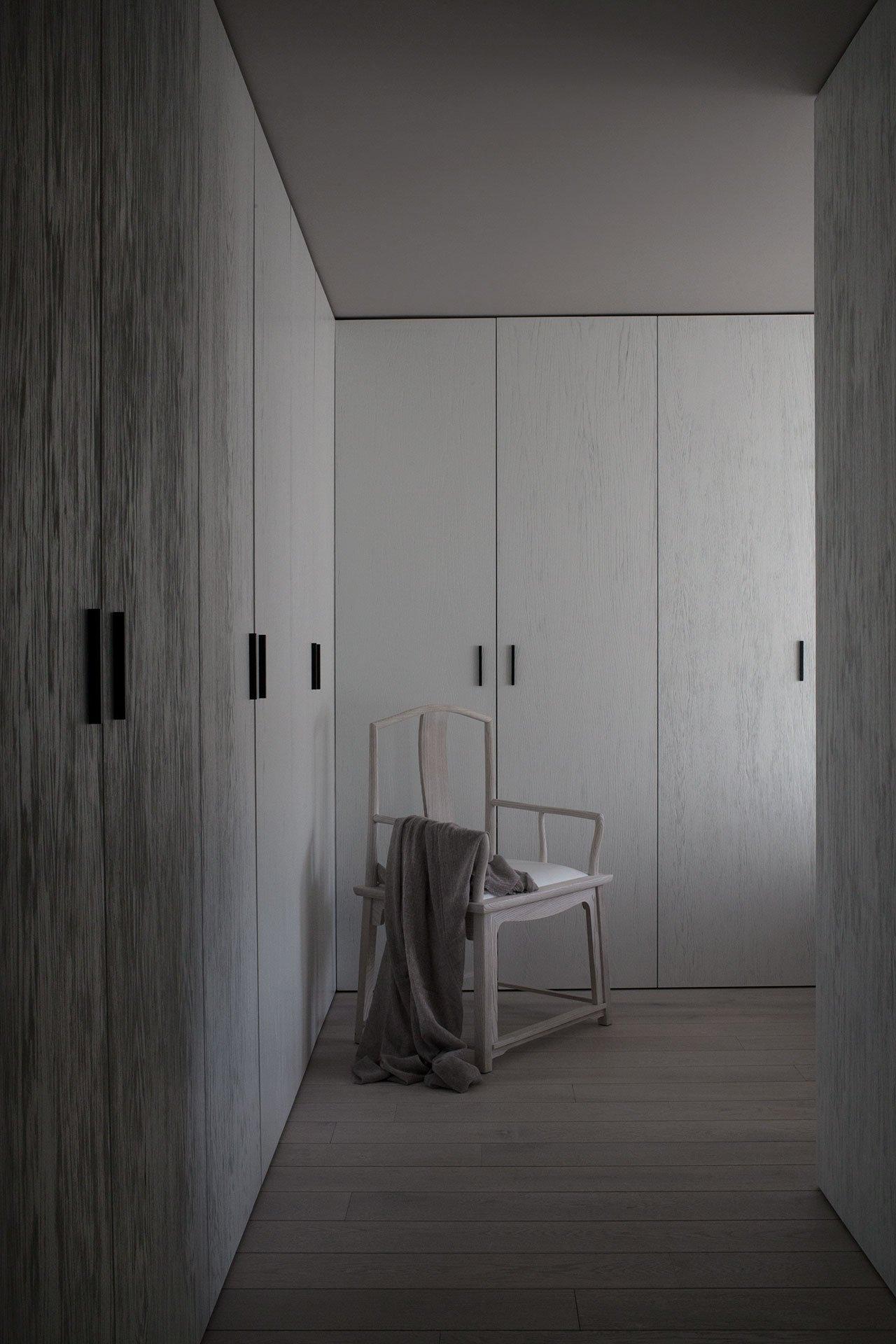 simple yet smart hidden storage for a bedroom