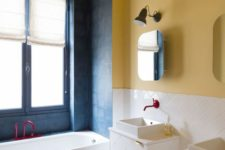 colorful bathroom design but with chic style