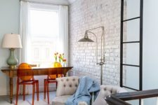 13 a whitewashed brick accent wall is a chic idea for any space, you won't need much to create a texture