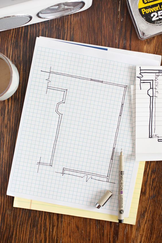 draw and make detailed plans before you start renovating, it's very important to follow the plan