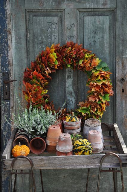 chic and colorful fall wreath