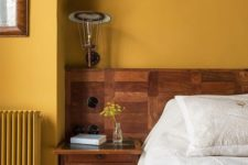 20 a mustard statement wall is a bold feature for any space and is cool for the fall