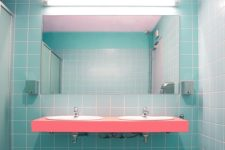 cool, colorful bathroom
