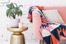 20 whitewahsed brick walls are a great backdrop for any colorful furniture and accessories