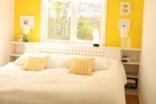 22 a super bold yellow statement wall is sure to fill your space with sunlight in any season