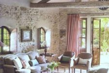 24 if you already have stone walls, whitewash them to make them look chic