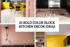 25 bold color block kitchen decor ideas cover