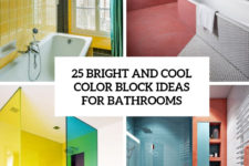 25 bright and cool color block ideas for bathrooms cover