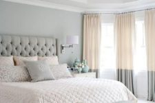 25 color blocked curtains in cream and grey are a great idea to add an edgy feel to your space without changing much
