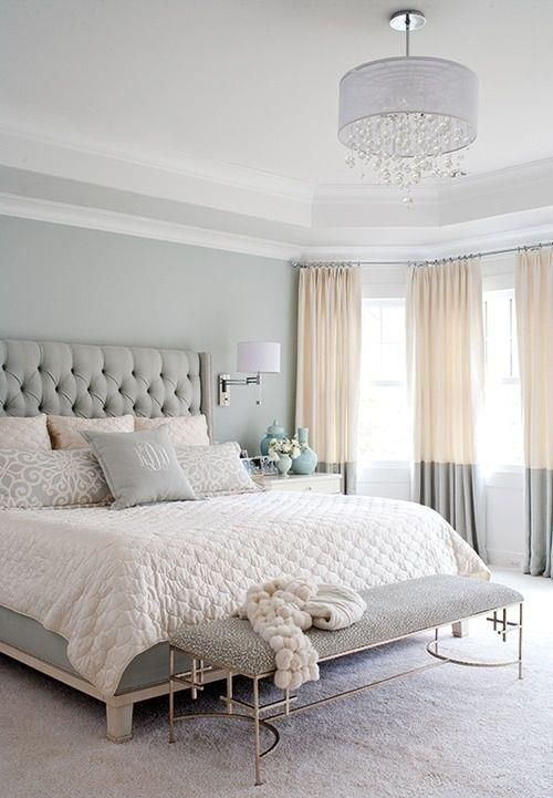 color blocked curtains in cream and grey are a great idea to add an edgy feel to your space without changing much