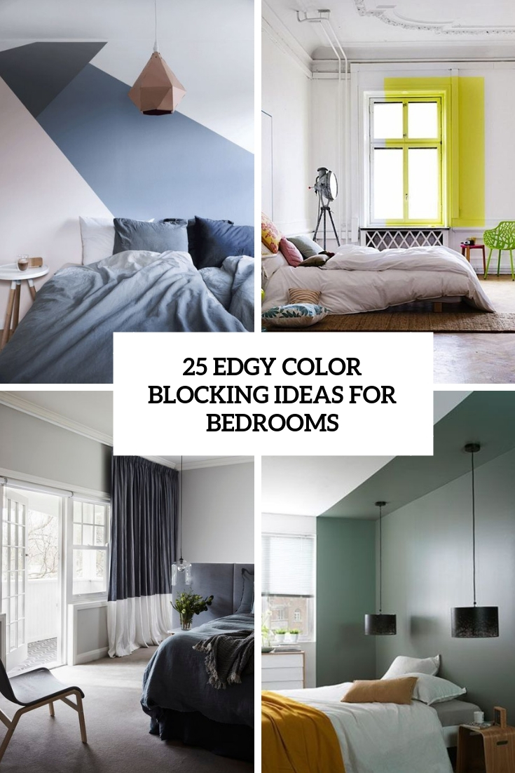 25 Edgy Color Blocking Ideas For Bedrooms