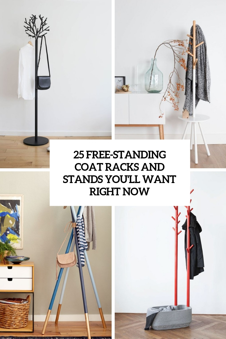 25 Free-Standing Coat Racks And Stands You'll Want Right Now