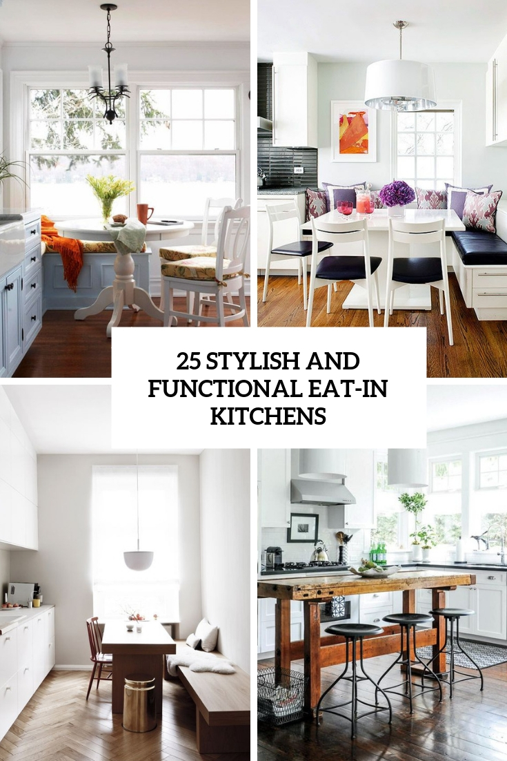 stylish and functional eat in kitchens cover