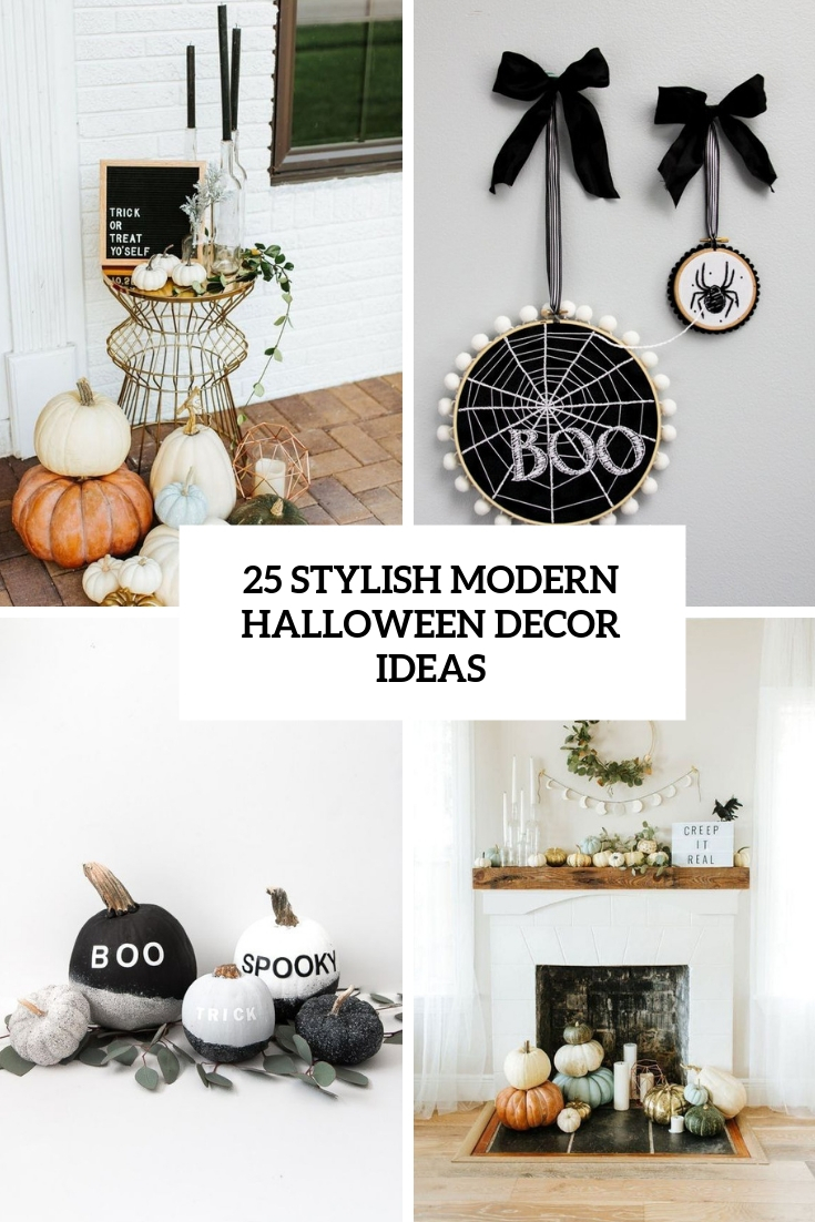 stylish modern halloween decor ideas