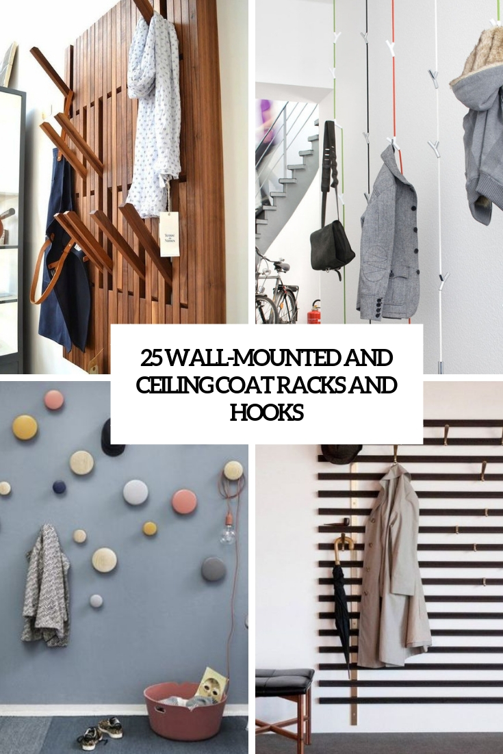 wall mounted and ceiling coat racks and hooks cover