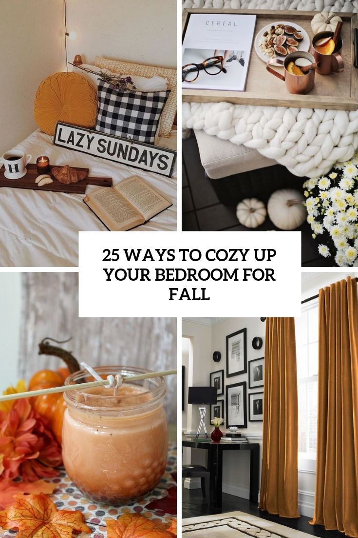 ways to cozy up your bedroom for fall cover