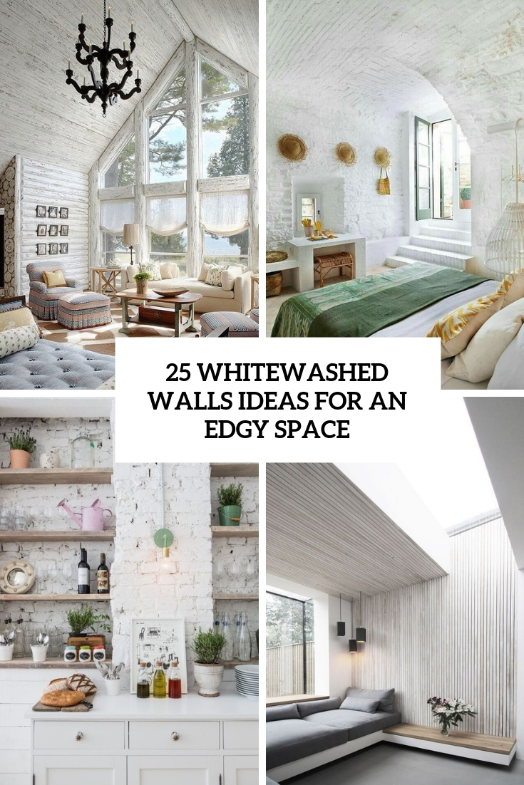 whitewashed walls ideas for an edgy space cover
