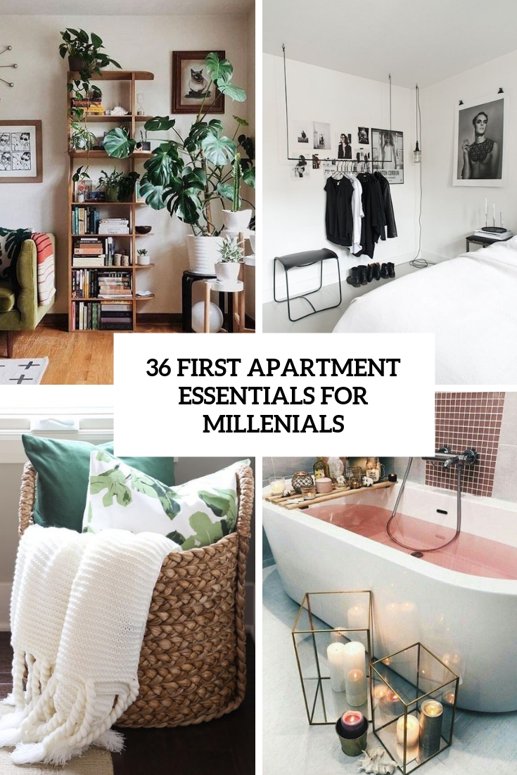 36 First Apartment Essentials For Millenials