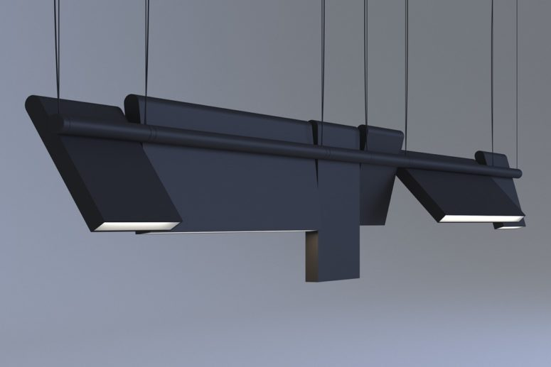 Axis lighting has an ultra modern design and is very comfy in using, it's modular and allows adding or removaing parts as you wish
