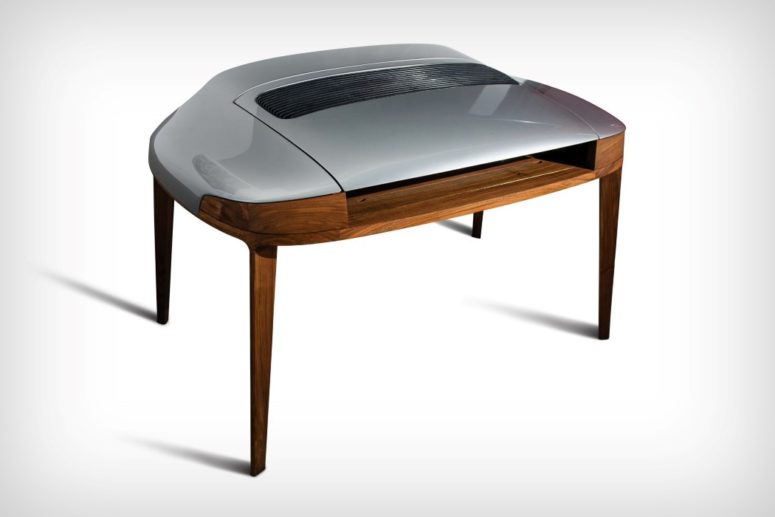 Porsche 911 Writing Desk With Original Car Parts