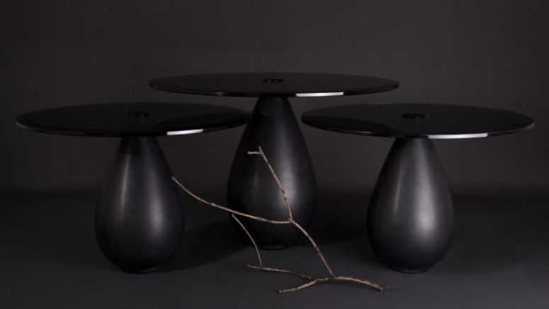 Refined Mura Table Of Glass And Marble