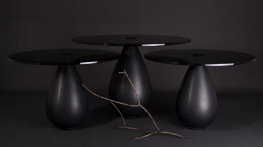 Mura tables are pure luxury for contemporary interiors, they are made of marble and glass for more chic