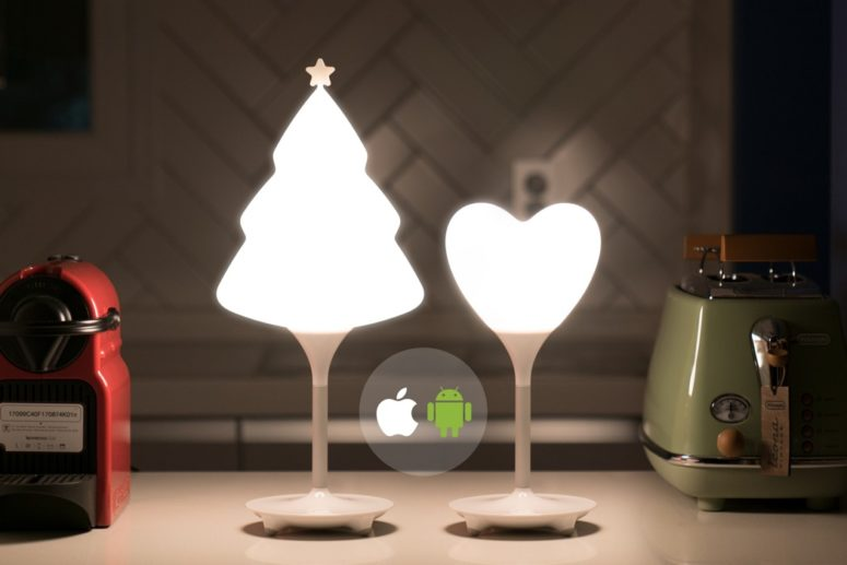 Cute SNO Tree And Heart Ambient Lamps