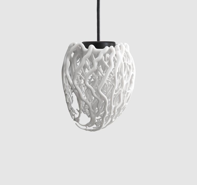 Life: A 3D Heart-Shaped Pendant Lamp