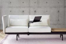 02 Soft Work is ideal for free lancers, it features a comfortable seating landscape and a stand for a laptop