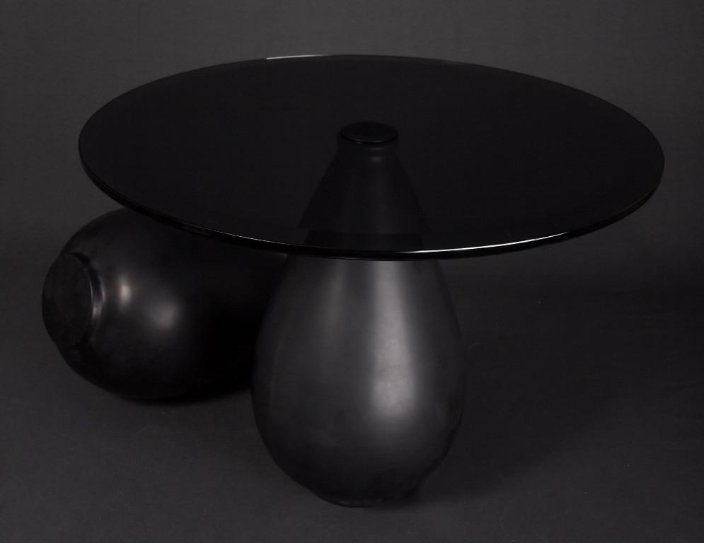 unique all black table