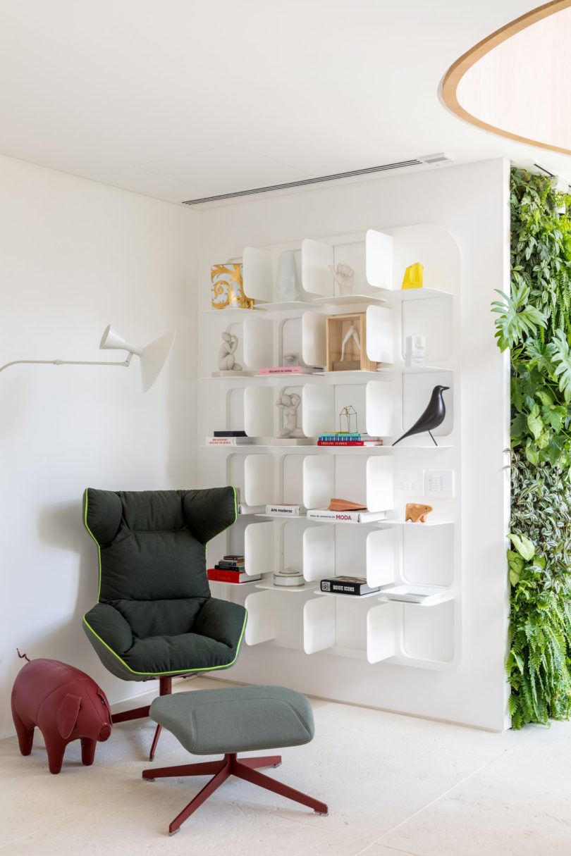 cute corner designed to be a reading nook