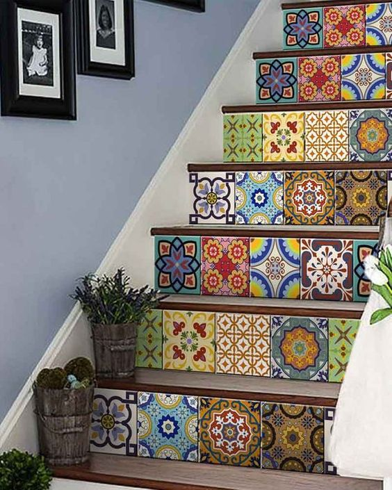 colorful tile stickers are right what you need for a Mediterranean feel in your home