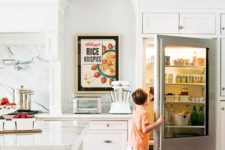 04 a glass door fridge is a great idea to make your kitchen feel more modern than it is, or just a perfect fit for a modern one