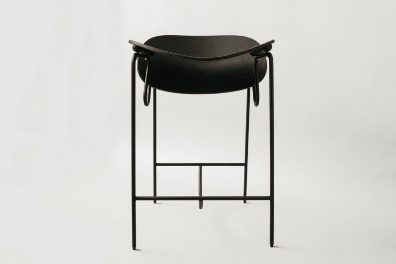 The Fig stool resembles the chair in its shape and look and is very comfy to sit on