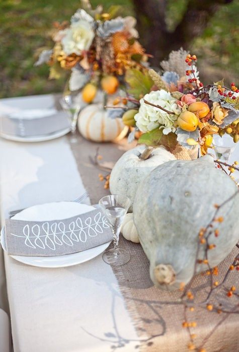 the more natural your table decor is, the cooler the ambience will be
