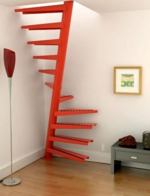 even if your stairscase is very small, you may paint it in a bold color and make it trendy