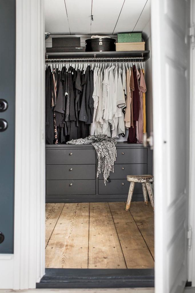 There's also a closet, which perfectly matches the style of the house