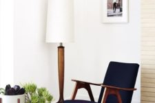 14 wood in all shades and colors is a characteristic feature of mid-century modern decor style