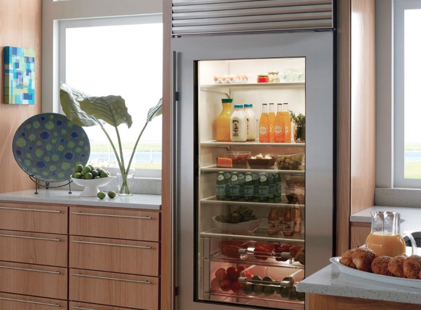cleaning your glass door and shelves should be constant, otherwise your fridge won't look neat
