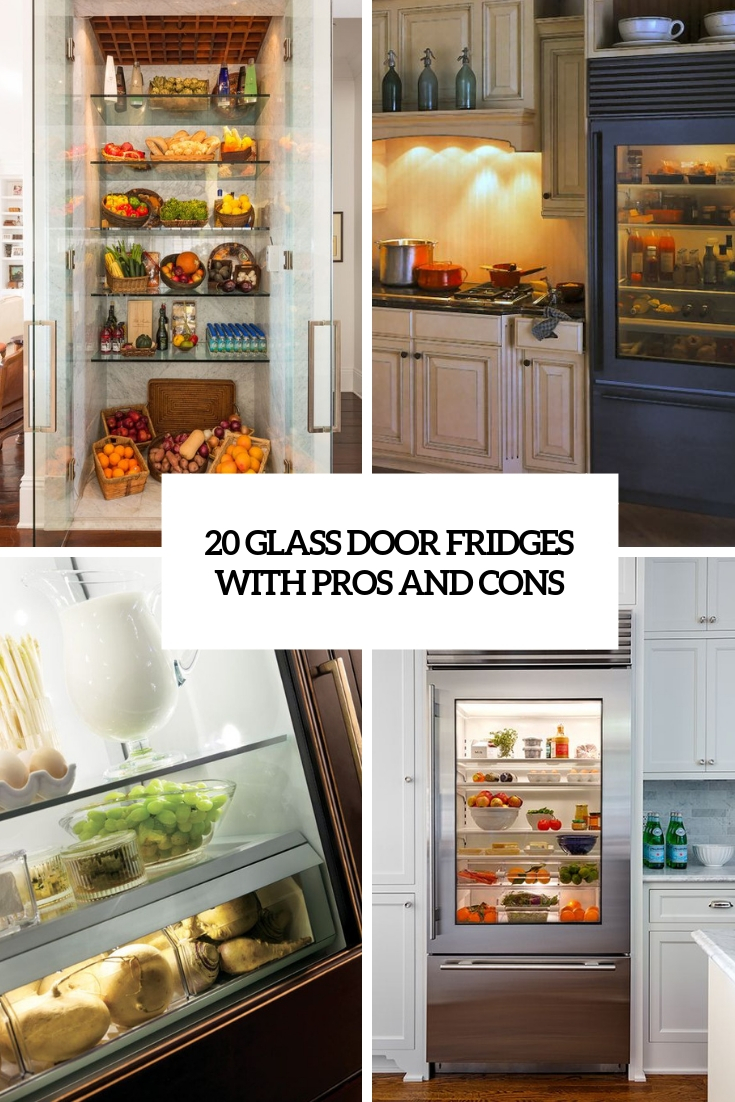 glas door fridges with pros and cons cover
