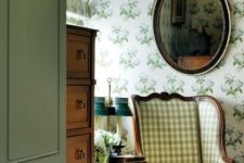 floral wallpaper is perfect for a cottage home